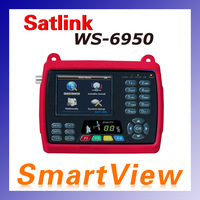 1pc Original Satlink WS 6950 3.5 inch Digital Satellite Signal Finder Meter WS6950 WS-6950 Free Shipping