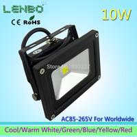 4PCS/LOT AC85V-265V 10W White 6color floodlight LED Flood Light Outdoor Lights black case High Power IP65 110V 220V 240V LW1