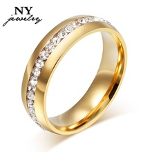 fashion 18K gold center austria crystal wedding ring o for women and men jewelry   R-005