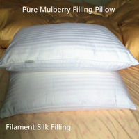 100% Mulberry silk filling pillow Eco-Frienly pure silk  75 X 48 cm 1000 g 1250 g 750 g Optimal Filament silk pillow on sale