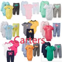 3pcs of 1set , Original Carter's suits, roupas de bebe conjuntos carters Baby Girls long sleeve, short sleeve,bodysuits hot sell