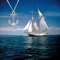 2014 Fashion bijouterie Long necklace chain Alloy Anchor Necklaces Pendants For Men And Women Vintage Jewelry Wholesale