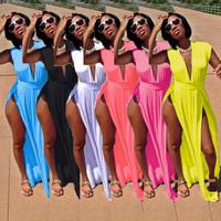 New 2014 Sexy Women 6 Color Long Summer Dresses Halter Maxi Casual Beach Dress Bodycon Evening Party Dress S M L XL XXL 3XL 5852