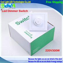 Led dimmer interruttore 220 v 300 w luminosità dimmer del driver per dimmable ha condotto la lampada di illuminazione  (China (Mainland))