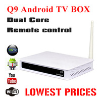 Newest Dual core android tv box Allwinner A20 up to 1.2GHz 512MB/4GB android 4.2 Support DLNA, Mirrocast ,Airplay free shipping