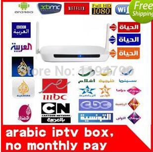 2015 cheapest Arabic IPTV box,arabic tv box ,android tv box ,no monthly fee Arabic tv box support 600 HD Arabic channel(China (Mainland))