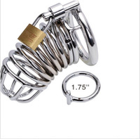 Male Chastity Device Men Bird Lock Stainless Steel Belt Cock Fetish Cage