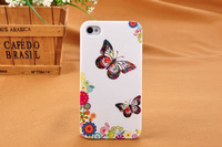 Hot! Butterfly  Hard Back Cover Case for iPhone 4 4G 4S Free shipping C0301