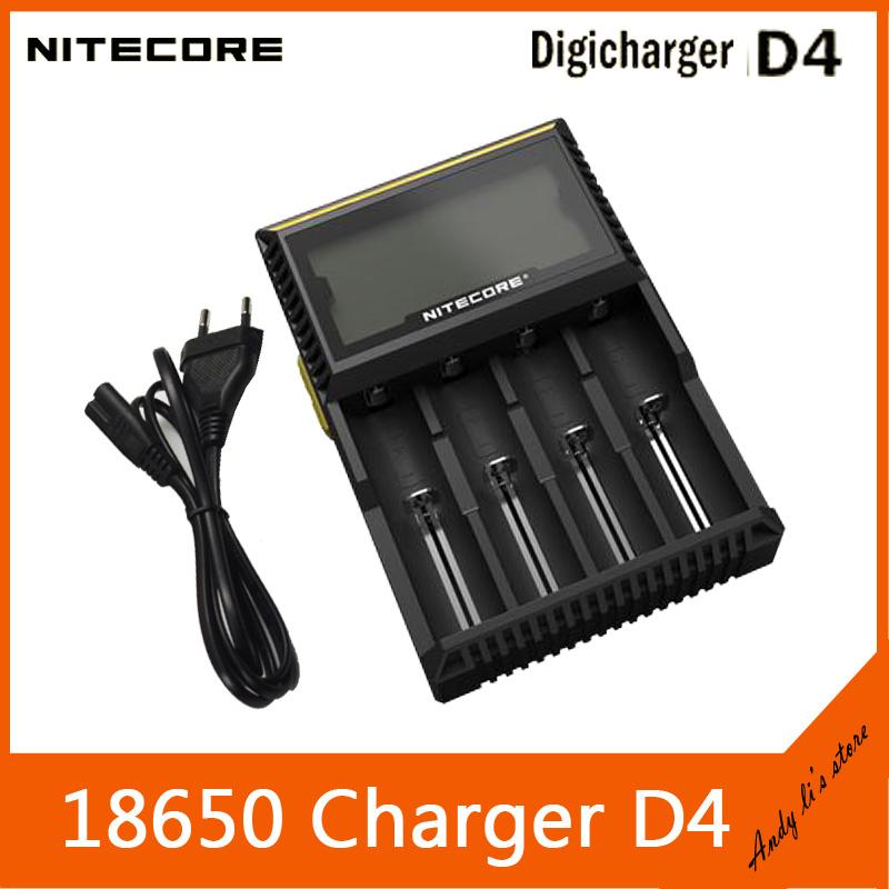 все цены на  Зарядное устройство Nitecore D4 Lcd ( ) 2.0 li/ion/nicd/nimh AA18650 + Spot  онлайн