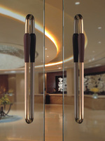 Entrance Door Pull Handle PA-233-46*800mm,Made With 304 Stainless Steel and Walnut Wood