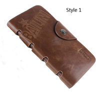 2014 new four styles men wallets & fine bifold brown brand Retro style leather with pu wallets for men