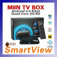 1pc Original M8/M8N Amlogic S802 Quad Core TV Box XBMC TV Box Android 4.4 Kitkat Dual Wifi 2G/8G/ Bluetooth 4.0 Free Shipping