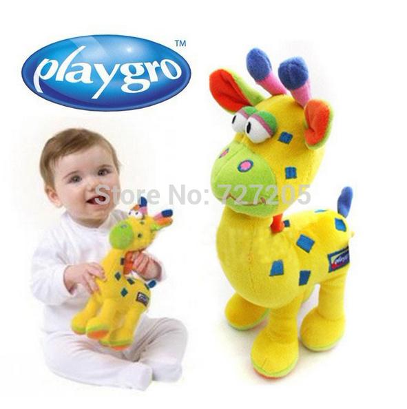 Playgro baby stuffed plush toys animals Giraffe kids learning & education for children 0-12 months Free Shipping(China (Mainland))