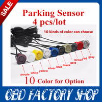 Free shipping!22mm Parking Sensor Monitor System Reversing Radar Car Reverse Probe Parking assistance 10color(4PCS/Lot)