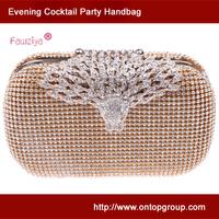Whole diamond leopard clasp - women evening ball party bags - wedding handbag - prom clutch