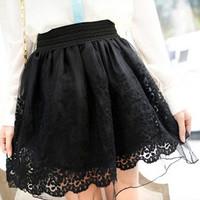 Spring and Summer Women's Skirt 2014 Female Gauze Lace Short Skirts Puff Skirt Bust Basic Skirts
