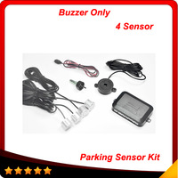 4 Sensors Buzzer 22mm Car Parking Sensor Kit Reverse Backup Radar Sound Alert Indicator Probe System 12V In stock