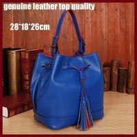 fashion handbag genuine leather handbag Brand 2014 hot design women tassel women shoulder bags 5069 tote women  hanbag