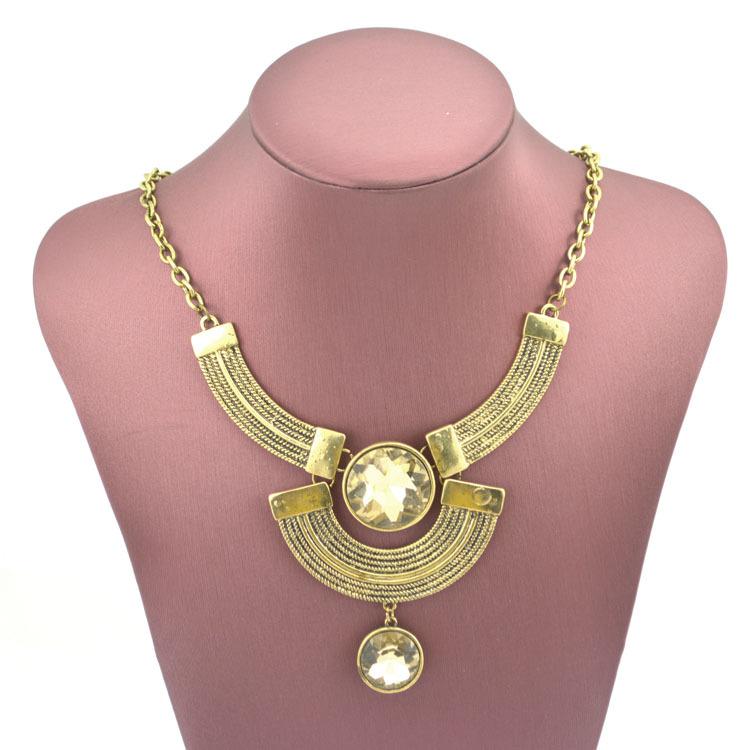 2014 mode hochwertige za Marke halskette mode Jahrgang blumenketten& anhänger glas collier aussage halskette