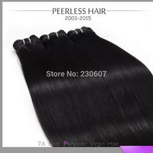 6A Peru-vian Silky Straight 3Pcs Lot Natural Black Wholesale Fast Ship Thick Hu-man Vir-gin Hair Extension Weave 12 To 28(China (Mainland))