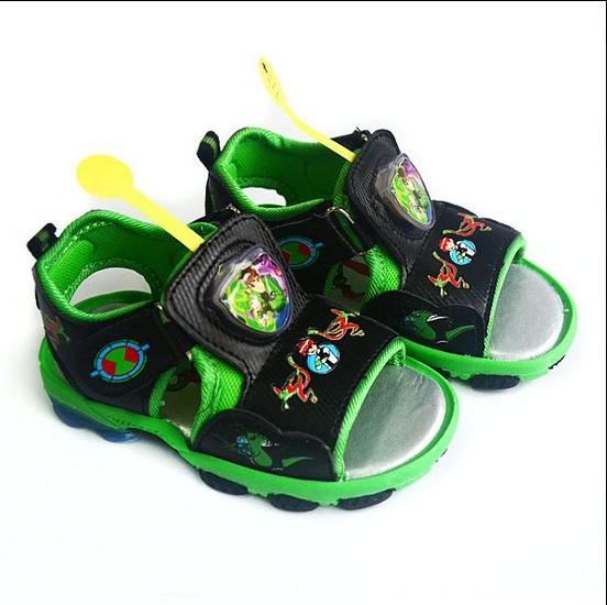 AliExpress.com Product - 2014 New Summer Cartoon Brand Children Sandal For Kid Boy Ben 10 Flashing Light Children's Kids Boys Sandals Beach Shoes