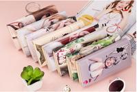2014 The latest graffiti embossed Women's wallet Variety pattern 2 fold purse
