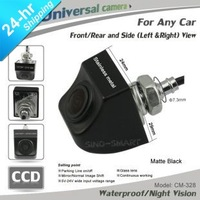 New arrival HD CCD universal wireless front/rear/left/right parking camera for any car waterproof  night vision Matte Black