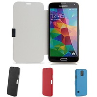 Flip PU Leather PC Case Folio Protective Book Cover for Samsung Galaxy S5