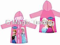 A186 2014 New Cartoom Frozen Anna Elsa Princess Waterproof Sun-Proof Rain Clothing Jacket Coat For Children Girls 8 pcs/lot