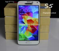 "New Fingerprint unlock s5 phone i9600 5.1"" HD Android 4.4 2GB Ram 13MP Camera s5 MTK6592 Octa Core phone 3G WCDMA multi-language"