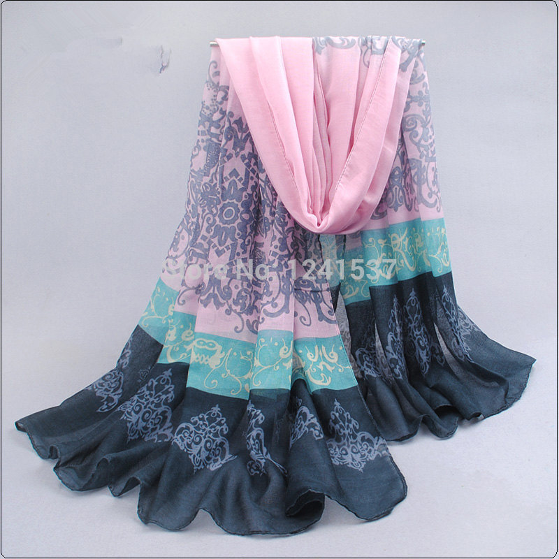 2014 New Special Print Adult Offer Silk Thin Long Design Cotton Scarf Women's Autumn And Winter Bali Yarn Oversized Beach Towel(China (Mainland))