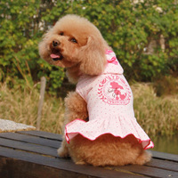 Pet summer dog sweetheart dress teddy vip bichon dog excellent princess dress fabric