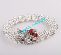 classic trendy new jewelry sets wholesale DHL/EMS Free Shipping  micro pave cz Disco Beads Crystal children Shamballa Bracelet