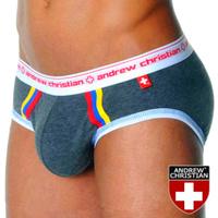 Free Shipping 2pcs/lotAndrew Christian  Men underwear Sexy Men's Briefs Mix Colors C-41