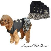 Dog Clothing Fashion Leopard Design Dog Dress Pet Summer Wear Dog Apparel Puppy Party Shirt High Design Tutu