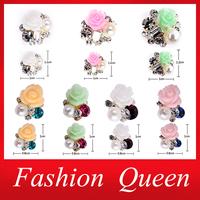 Rhinestone Alloy Flowers 3d Nail Art Decorations,7Designs(20pcs/lot) Metal Glitter  DIY Beauty Nail Supplies Accessories Jewelry