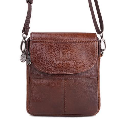 Гаджет  Vintage Brand mini portable genuine leather men bags High Quality Natural Cowskin casual men messenger bags None Камера и Сумки