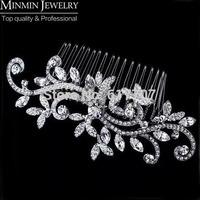 New 2014 Crystal Imitation Gemstone Bridal Hair Combs Hairpin Wedding Hair Accessories Hair Jewelry