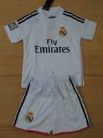 Real Madrid     Home  White  away pink   2014 - 2015     baby  Kids /   youth  soccer  jersey  Free Shipping
