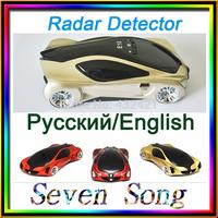 Factory price Car radar detector Russian/English with +wholesale/dropship  Black, red, silver. radar detector
