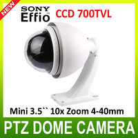 700TVL 1/3 Sony ccd Outdoor Mini PTZ cctv camera / mini High Speed Dome Camera with 10x zoom 4-40mm Sony camera module