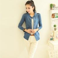 2014 New Fashion Women Coat Girl Casual Jacket Jaqueta Casacos Plus Size XXL Free Shipping