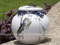 850ml Handmade porcelain tea jar,china dehua vintage ceramic kitchen food storage jars,candy storing tank,teas sealed container