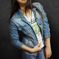 New Arrive Plus size vintage cropped denim jackets cardigan jeans jacket Europe size women's jeans coat 34,36,38,40,42,44,46