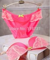 New 2015 Sexy  Bra and Underwear Set lace brassiere push up bra fashion style  hot blue pink purple plus size Cup B Csize 70- 80