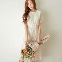 Brand New Fashion Summer Women Casual Long Dresses Girl Cute White Lace Dress Vestidos Femininos Longo Free Shipping