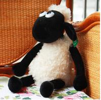 25cm super cute mini Shaun sheep creative plush toy, stuffed TV/animation sheep, graduation& birthday gift for children, 1pc