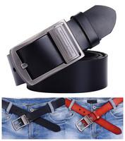 Fashion Men Brand Leather Belts Cinto Cowboy Pin Buckle Strap 100% Genuine Cowhide Belts For Men Free Shipping B18