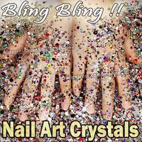 Bling Bling!Mix Sizes Colors 5000pcs/Lot Nail Art Crystals Rhinestones Resin Non HotFix ss6 - ss30, 2mm 3mm Nail Glitters Strass
