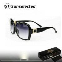 Free dropshipping 2014 New Women's Vintage Sunglasses Brand Designer w/Dimond Square Shape Eyewear Summer Coating Sunglass sg245